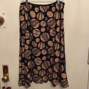 Cynthia Rowley embroidered skirt 10